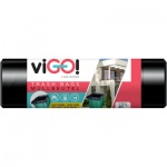 Quickpack viGO pytle na suť, černé, LDPE, silné 140 µ, rozměr 60 × 110 cm, 120 l, balení 5 ks