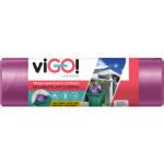Quickpack viGO pytle na odpad zatahovací 70 × 100 cm, 120 l, 10 ks
