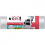 viGO pytle na odpad, transparentní, 13 µ, 60 × 70 cm, 60 l, 15 ks
