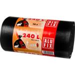 Alufix silné pytle na odpadky, černé, 35 µ, objem 240 l, 10 ks