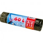 Alufix Economy zatahovací pytle na odpadky, černé, 8 µ, objem 60 l, 10 ks
