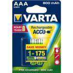 Varta Ready2Use nabíjecí AAA akumulátory NiMH, 800 mAh, balení 2 ks