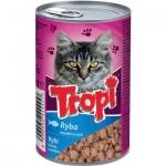 Tropi konzerva pro kočku s rybou v omáčce, 415 g