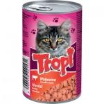 Tropi konzerva pro kočku hovězí, 415 g