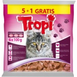 Tropi kapsičky pro kočku kuře, hovězí, losos, zvěřina, balení 6 × 100 g