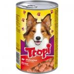 Tropi konzerva pro psa s hovězím, 1250 g
