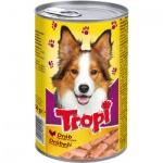 Tropi konzerva pro psa s drůbeží, 1250 g