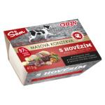 Sam vanička pro psy s hovězím masem, 97% podíl masa, 415 g