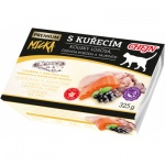 Micka Premium vanička pro kočky, s kuřecím, kousky lososa, černým rybízem a taurinem, 325 g
