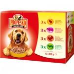 Propesko kapsičky pro psy kuře, hovězí, krůtí, jehněčí, 12 × 100 g