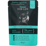 Fitmin For Life Lososová kapsička pro kastrované kočky, 85 g