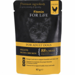 Fitmin For Life Kuřecí kapsička se šunkou pro psy, 85 g