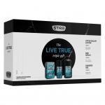STR8 Live True dárková sada DEO + sprcháč + voda po holení