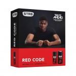 STR8 Red Code dárková kazeta DEO + sprcháč