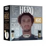 STR8 Hero dárková sada DNS + sprchový gel