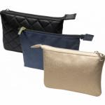 Barton Trading kosmetická taška na zip, zlatá, 18,8 × 13,5 cm