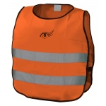 Vesta výstražná oranžová dětská EN 1150, 01513n
