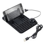 Držák telefonu s podložkou a kabelem micro USB, 06259
