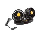 Ventilátor MITCHELL DUO 2x130mm 24V na palubní desku s teploměrem, 07225