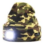 Čepice ARMY s LED svítilnou USB nabíjení, 14020