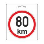 Samolepka omezená rychlost 80km/h (110 mm), 34486