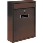 Poštovní schránka 360x260x80mm hnědá, TO-78557