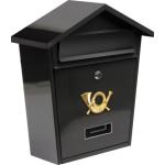 Poštovní schránka se stříškou 380x320x105mm černá, TO-78580