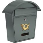 Poštovní schránka se stříškou oblou 380x320x105mm šedá, TO-78586