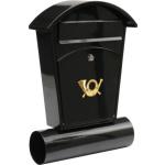 Poštovní schránka se stříškou oblou + zásobník na noviny 480x280x80mm černá, TO-78590