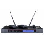 DEXON Bezdrátový mikrofon náhlavní / klopový, 2kanálový do racku MBD 932, 21_899