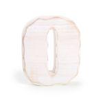 Dřevěné písmeno O bílé 1232