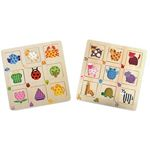 Pattern-matching wooden puzzle, set of 2 4345