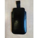 Koženkové pouzdro na iPhone 5/5S/4/4S černá i00009