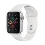 Apple Watch S5, 44mm, Silver/ White SB - S/M & M/L, MWVD2HC/A