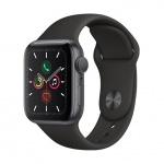 Apple Watch S5, 40mm, Space Grey/ Black Sport Band, MWV82VR/A