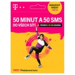 T-Mobile Czech Republic A.s. T-Mobile SIM Twist 50 MINUT A 50 SMS, 700 636