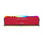 32GB DDR4 3000MHz Crucial Ballistix CL15 2x16GB Red RGB, BL2K16G30C15U4RL
