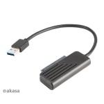 "AKASA USB 3.1 adaptér pro 2,5"" HDD a SSD - 20 cm, AK-AU3-07BK"
