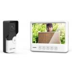 EVOLVEO DoorPhone IK06, set video dveřního telefonu s pamětí a barevným displejem, DPIK06-W