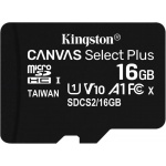 16GB microSDHC Kingston Canvas Select Plus  A1 CL10 100MB/s bez adapteru, SDCS2/16GBSP