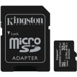 32GB microSDHC Kingston Canvas Select Plus  A1 CL10 100MB/s + adapter, SDCS2/32GB