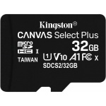 32GB microSDHC Kingston Canvas Select Plus  A1 CL10 100MB/s bez adapteru, SDCS2/32GBSP