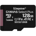 128GB microSDXC Kingston Canvas Select Plus  A1 CL10 100MB/s bez adapteru, SDCS2/128GBSP