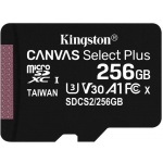 256GB microSDXC Kingston Canvas Select Plus  A1 CL10 100MB/s bez adapteru, SDCS2/256GBSP