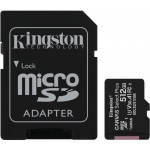 512GB microSDXC Kingston Canvas Select Plus  A1 CL10 100MB/s + adapter, SDCS2/512GB