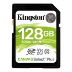 128GB SDXC Kingston Canvas Select Plus U1 V10 CL10 100MB/s, SDS2/128GB