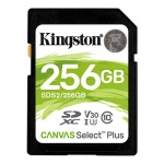 256GB SDXC Kingston Canvas Select Plus U1 V10 CL10 100MB/s, SDS2/256GB