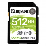 512GB SDXC Kingston Canvas Select Plus U1 V10 CL10 100MB/s, SDS2/512GB