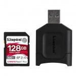 128GB SDHC Kingston Canvas React Plus  UHS-II V90 + čtečka, MLPR2/128GB