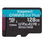128GB microSDXC Kingston Canvas Go! Plus A2 U3 V30 170MB/s bez adapteru, SDCG3/128GBSP